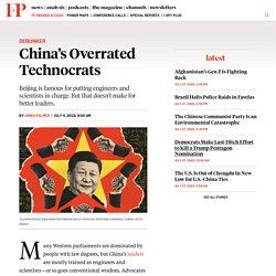China's Overrated Technocrats