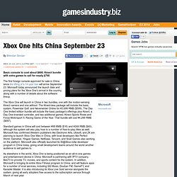 Xbox One hits China September 23