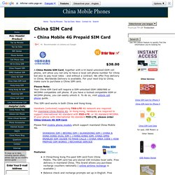 China Mobile SIM Card