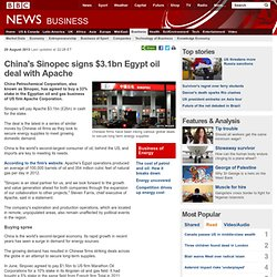China's Sinopec signs $3.1bn Egypt oil deal with Apache