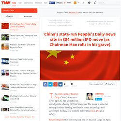 China's State-Run People's Daily Online in $83M IPO