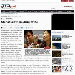 China: Let them drink wine