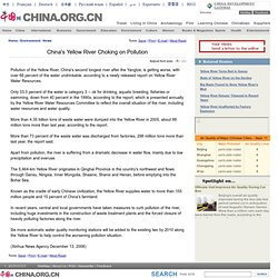 China's Yellow River Choking on Pollution