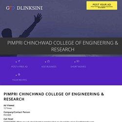 PIMPRI CHINCHWAD COLLEGE OF ENGINEERING & RESEARCH