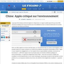 Chine: Apple critiqué sur l'environnement