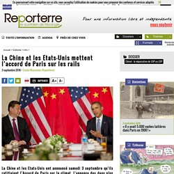 Chine et Etats-Unis, les plus grands pollueurs, signent l'accord de Paris