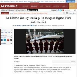 Conjoncture : La Chine inaugure la plus longue ligne TGV du monde