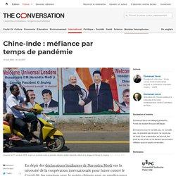 Chine-Inde: méfiance par temps depandémie