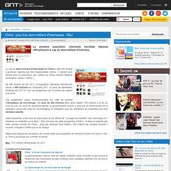 Chine : plus d'un demi-milliard d'internautes