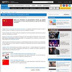 Chine : vers 800 millions d'internautes en 2015