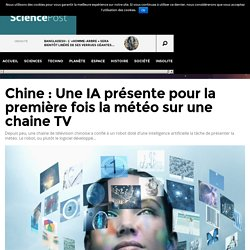 Chine : Une IA présente pour la première fois la météo sur une chaine TV