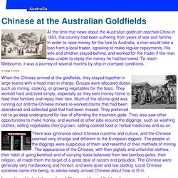 Chinese at the Australian Goldfields