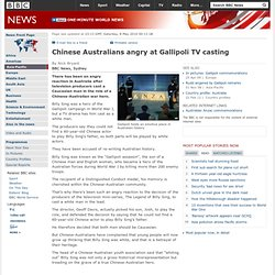 Chinese Australians angry at Gallipoli TV casting