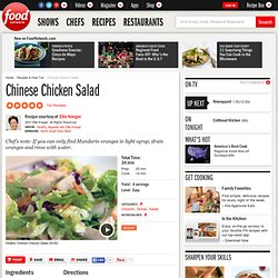 Chinese Chicken Salad Recipe : Ellie Krieger