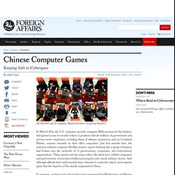 Chinese Computer Games