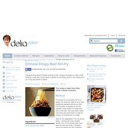 Chinese Crispy Beef Stir-fry - Chinese