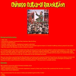 Chinese Cultural Revolution