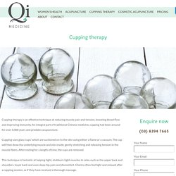 Cupping for muscle relaxation