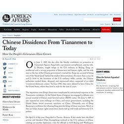 Chinese Dissidence From Tiananmen to Today