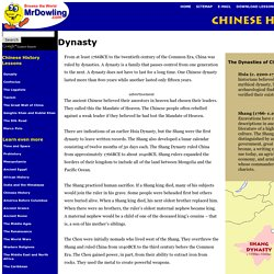 Chinese History - Common Core