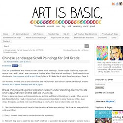 Chinese Landscape Scroll Paintings for 3rd Grade Art is Basic