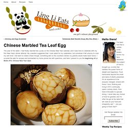 Chinese Marbled Tea Leaf Egg | Ling Li Eats (and Cooks)