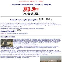 Chinese Mariner Zheng He [Cheng Ho]