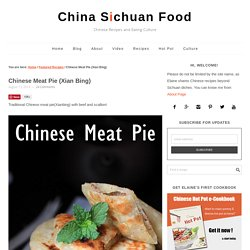 Chinese Meat Pie (Xian Bing)
