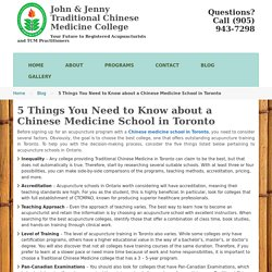 5 Things You Need to Know about a Chinese Medicine School in Toronto