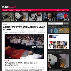 Chinese Mourning Mao Zedong's Death in 1976