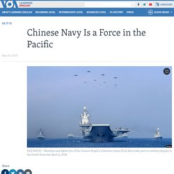 Chinese Navy Is a Force in the Pacific