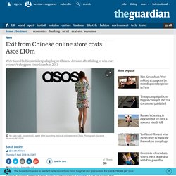 Exit from Chinese online store costs Asos £10m