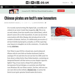 Chinese pirates are tech's new innovators
