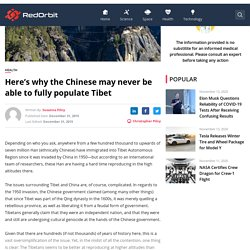 Here's why the Chinese may never be able to fully populate Tibet - Redorbit