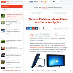 Chinese iPad clone released