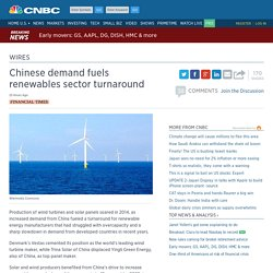 Chinese demand fuels renewables sector turnaround