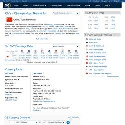 Taux CNY - Yuan ou renminbi chinois, actualités et outils