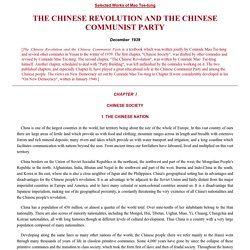 THE CHINESE REVOLUTION AND THE CHINESE COMMUNIST PARTY