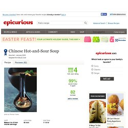 Chinese Hot-and-Sour Soup Recipe at Epicurious