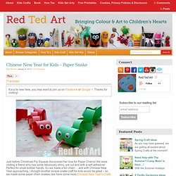 Blog Archive Chinese New Year for Kids - Paper Snake