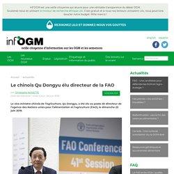 Le chinois Qu Dongyu élu directeur de la FAO