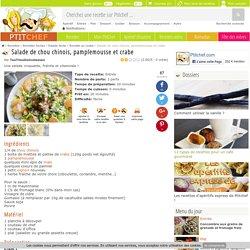 Salade de chou chinois, pamplemousse et crabe, Recette Ptitchef