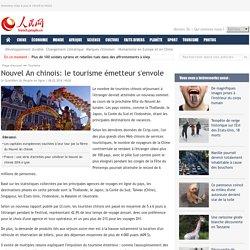Nouvel An chinois: le tourisme émetteur s'envole
