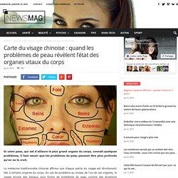 Carte du visage chinoise : quand les problèmes de peau révèlent l'état des organes vitaux du corps
