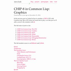 CHIP-8 in Common Lisp: Graphics