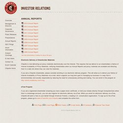 Chipotle Investor Relations - Annual Reports