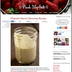 Chipotle Ranch Dressing Recipe