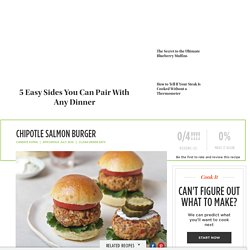 Chipotle Salmon Burger Recipe