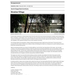 David Chipperfield Architects — Ninetree Village — Stampa