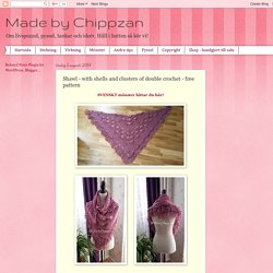 Shawl - with shells and clusters of double crochet - free pattern